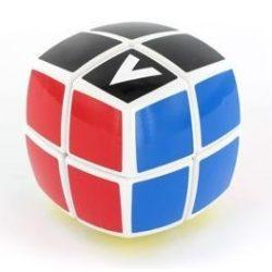 2x2 versenykocka, fehér, lekerekített, festett V-CUBE