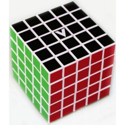 5x5 versenykocka, fehér, egyenes V-CUBE
