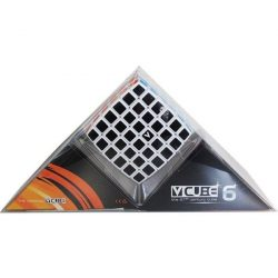 6x6 versenykocka, fehér, lekerekített V-CUBE