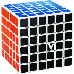 6x6 versenykocka, fehér, egyenes V-CUBE