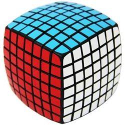 7x7 versenykocka, fekete, lekerekített V-CUBE