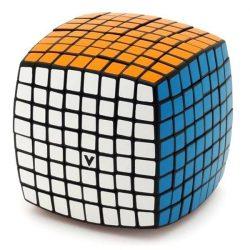 8x8 versenykocka, fekete, lekerekített V-CUBE