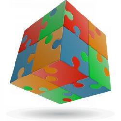 2x2 versenykocka, egyenes, Puzzle V-CUBE
