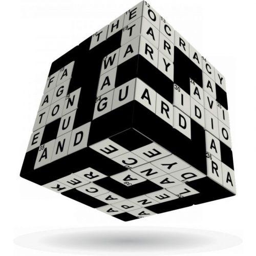 3x3 versenykocka, Keresztrejtvény V-CUBE