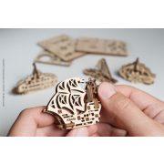 Ugears mini Hajó modellek  - mechanikus modell
