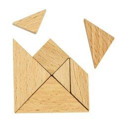 Tangram Matchbox Professor Puzzle mini ördöglakat
