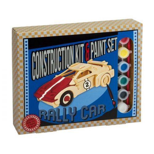 Rally autó Professor Puzzle 3d fa puzzle festékkel