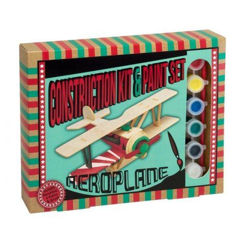 Repülőgép Professor Puzzle 3d fa puzzle festékkel