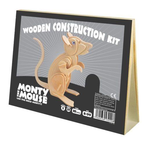 Monty Egér Professor Puzzle 3d fa puzzle