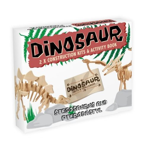 Stegosaurus & Pterodactyl Professor Puzzle 3d fa puzzle 2db-os
