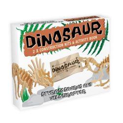 Stracosaurus & Velociraptor Professor Puzzle 3d fa puzzle 2db-os
