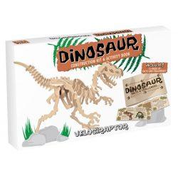 Velociraptor Professor Puzzle 3d fa puzzle, nagy