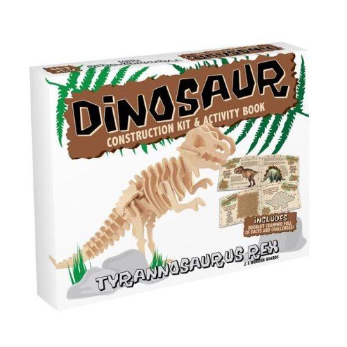 T-Rex Professor Puzzle 3d fa puzzle, közepes