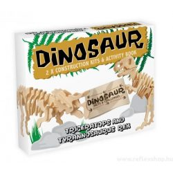 Triceratops & T-Rex Professor Puzzle 3d fa puzzle, 2db-os
