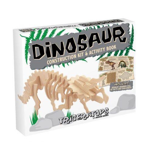 Triceratops Professor Puzzle 3d fa puzzle, közepes