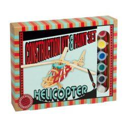 Helikopter Professor Puzzle 3d fa puzzle, festékkel