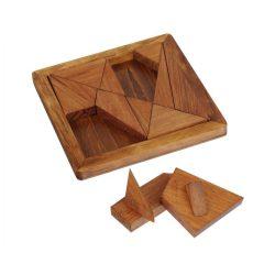 Arkhimédész Tangram Great Minds Professor Puzzle fa ördöglakat