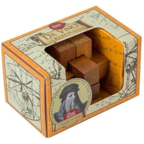Da Vinci Kereszt Great Minds Professor Puzzle fa ördöglakat mini