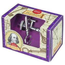 Franklin Kulcs Great Minds Professor Puzzle fém ördöglakat