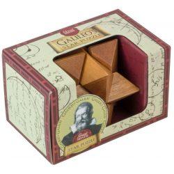 Galileo Csillag Great Minds Professor Puzzle fa ördöglakat mini