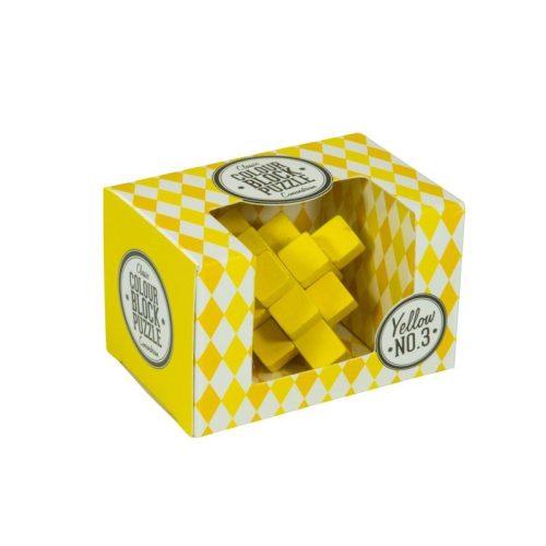 Blokk puzzle - sárga Professor Puzzle ördöglakat