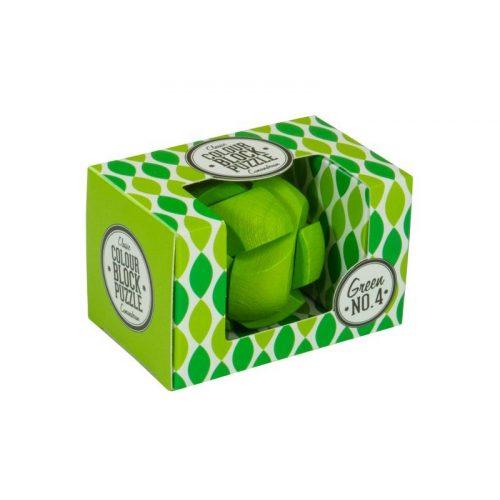 Blokk puzzle - zöld Professor Puzzle ördöglakat