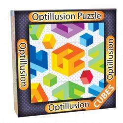 3D Optillusion Tile Puzzles Kockák optikai illúzió puzzle