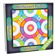 3D Optillusion Tile Puzzles Kígyó optikai illúzió puzzle