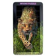3D Magna Portrait Leopard Cheatwell mágneses kirakó