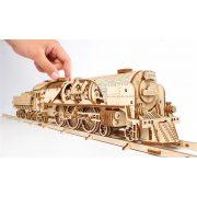 V-Express vonat sínekkel mechanikus modell - Ugears