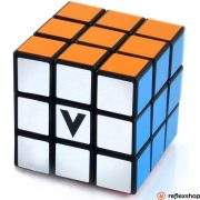 Festett 3x3 versenykocka, fekete, egyenes - V-CUBE
