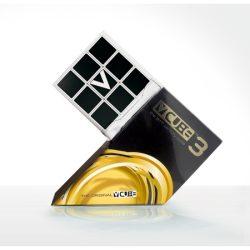 Festett 3x3 versenykocka, fehér, egyenes - V-CUBE