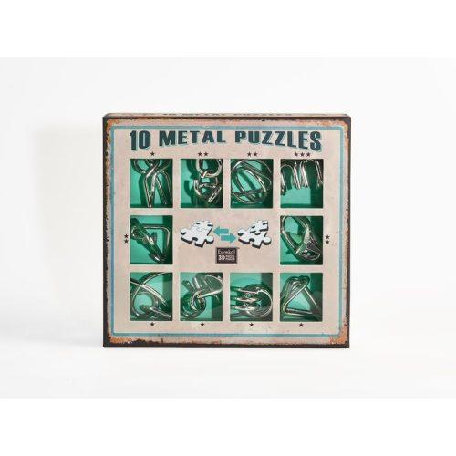 10 Metal Puzzle Set - zöld Level 1-3 - Cast - fém ördöglakat