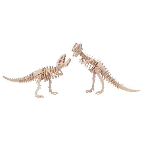 Gepetto's Workshop - Tyrannosaurus 2 az 1-ben - 3D fa puzzle