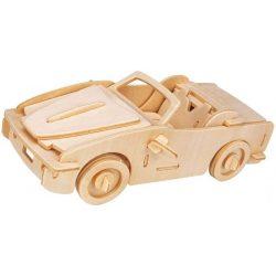 Gepetto's Workshop - Nyitott tetejű autó - 3D fa puzzle