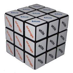 3x3 szövegkocka, színes - Rubik