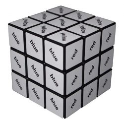 3x3 szövegkocka, fekete - Rubik