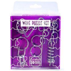 Mini Wire Puzzle Szett Lila - Cast - fém ördöglakat