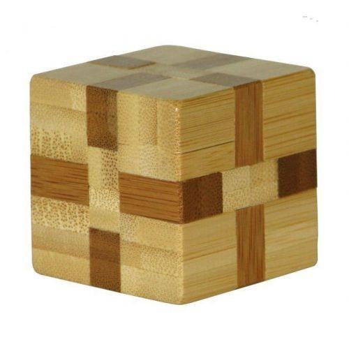 Cube - bambusz puzzle ördöglakat