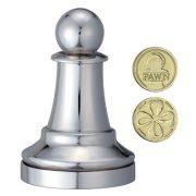 Cast Sakk - Gyalog (ezüst) - fém ördöglakat