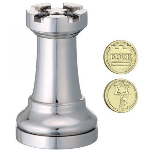 Cast Sakk - Bástya (ezüst) - fém ördöglakat